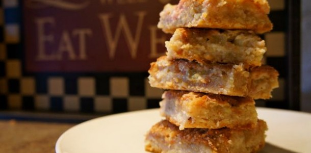 Home » Recipes » Desserts > » Bars » Almond Rhubarb Cookie Bars