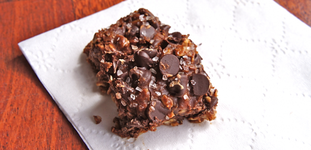Salted Peanut Butter Chocolate No Bake Bars